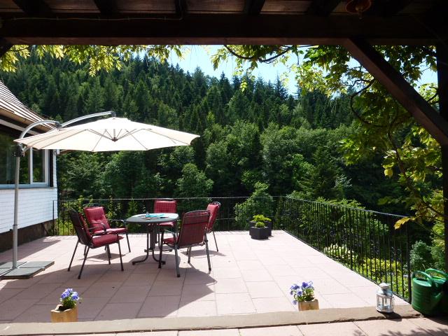 Terrasse am Ferienhaus